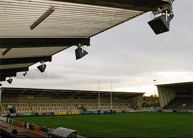 Sonido RCF Kingston Park Stadium