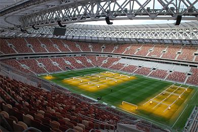 Optocore Broaman estadio Luzhniki