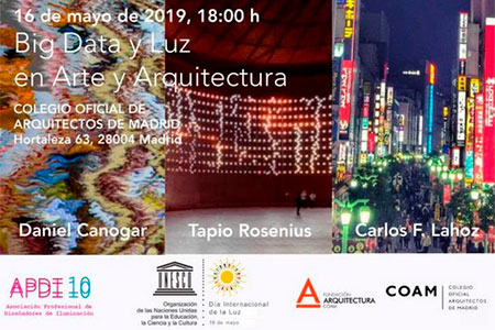 Big Data y Luz en Arte y Arquitectura evento